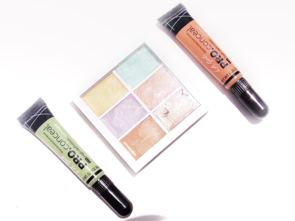 colour correctors flatlay
