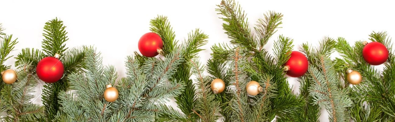 5973479-green-fir-twig-frame-with-christmas-balls-on-white-background-Stock-Photo